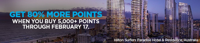 Get 80% more points when you buy points through February 17.