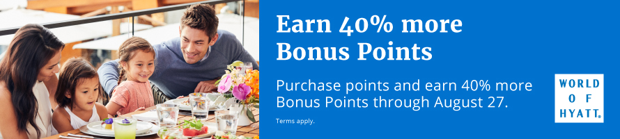 Earn 40% more Bonus Points.
