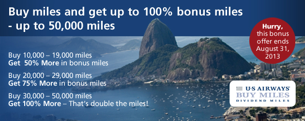 Buy miles and get up to 100% bonus miles